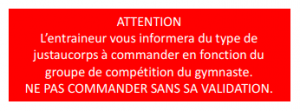 Attention justaucorps