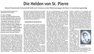 """""""Les héros de Saint-Pierre"""" (Waiblinger-Kreiszeitung - 8/1/2016)"""