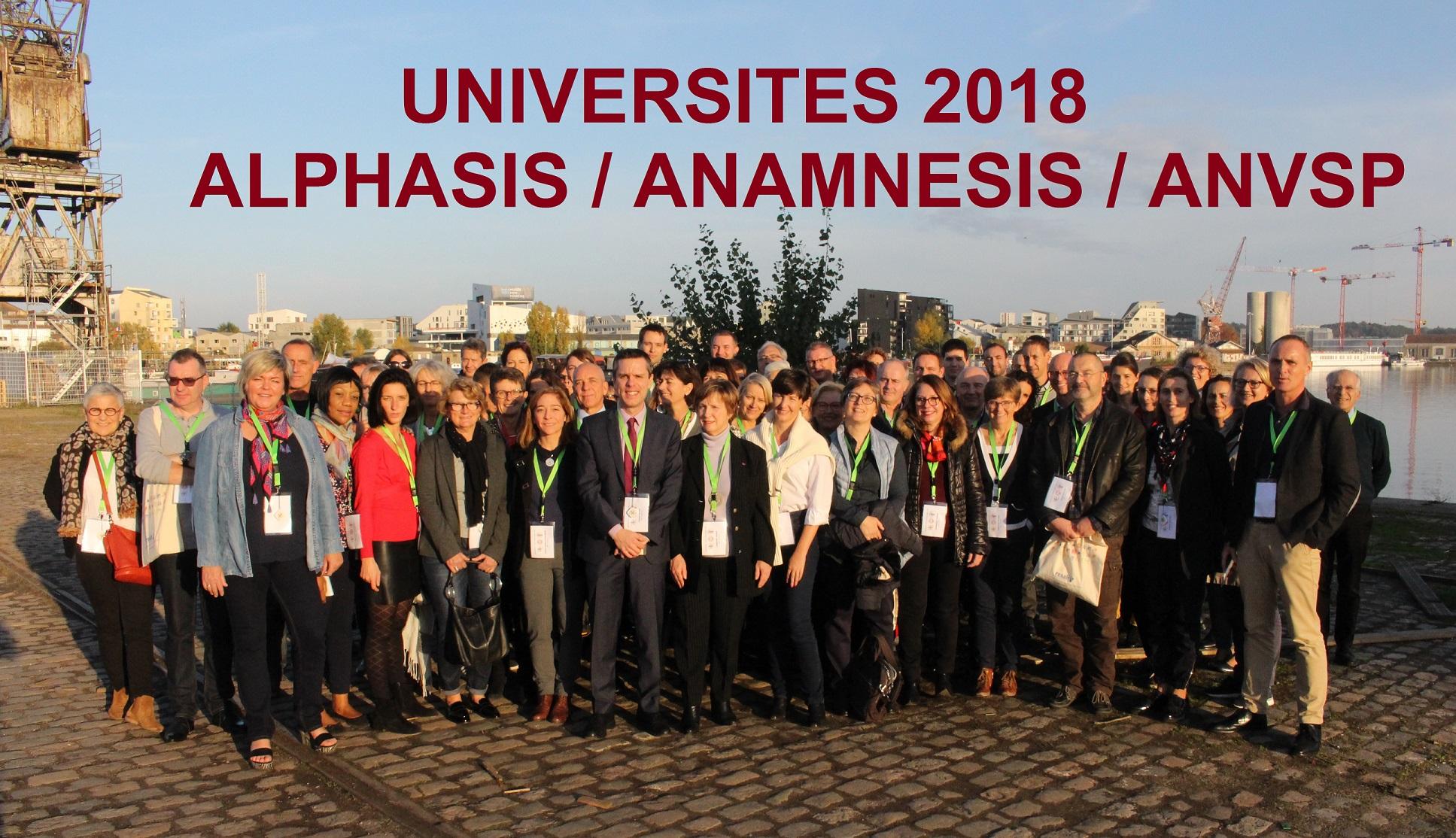 Retour sur les Universités ALPHASIS / ANAMNESIS / ANVSP