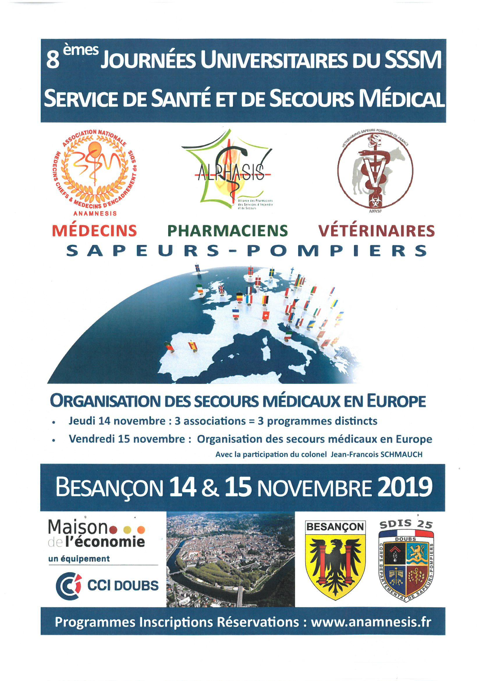SAVE THE DATE : Journées Universitaires 2019 de l'ANAMNESIS, ALPHASIS et ANVSP