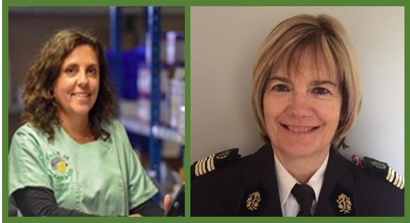 Mireille DOUCET, Préparatrice, et Roselyne STEVE, PSPP au SDIS 06