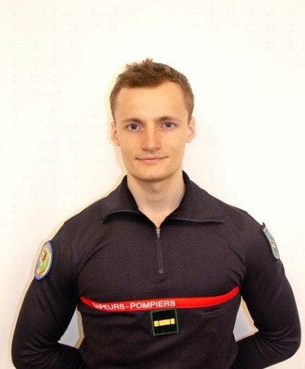 Valentin Maulet, aspirant pharmacien du SDIS des Yvelines