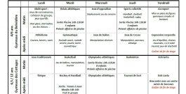Programmes des stages Multisports de février