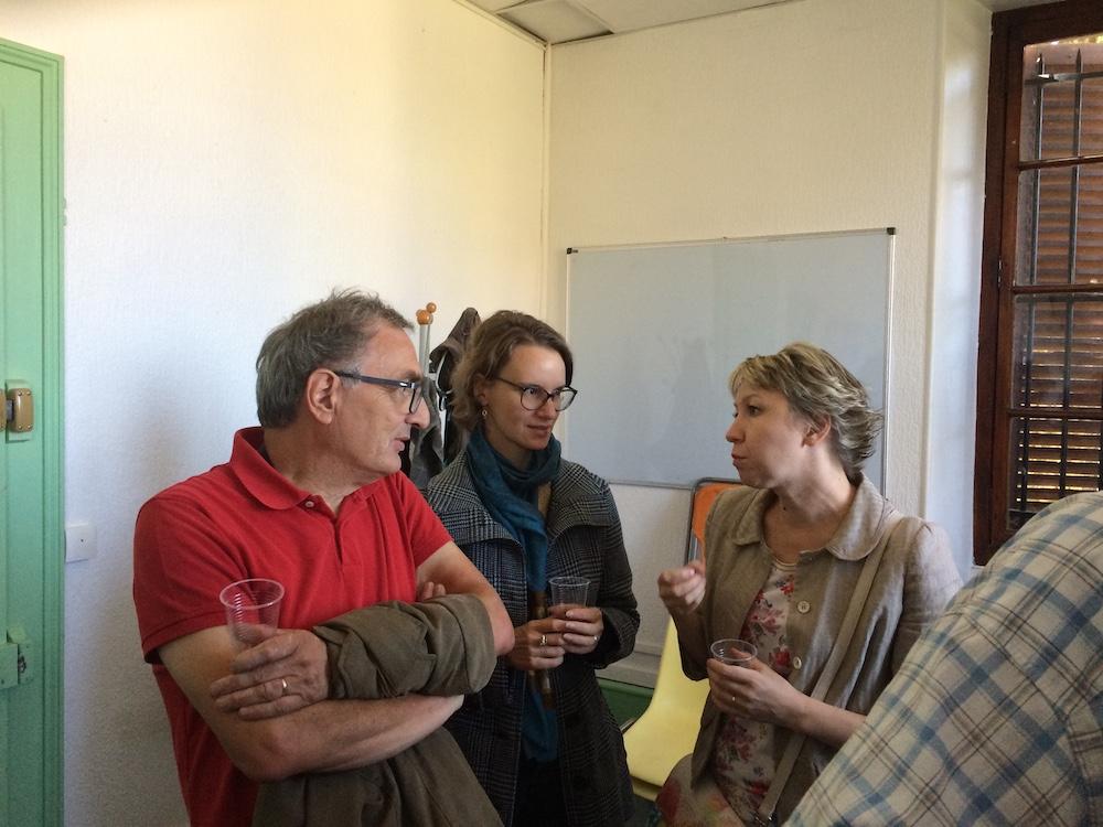 Alina Dechamboux, animatrice de Russe, Alessandra Zampieri, animatrice en Italien et Bernard Ducret , animateur en Histoire.