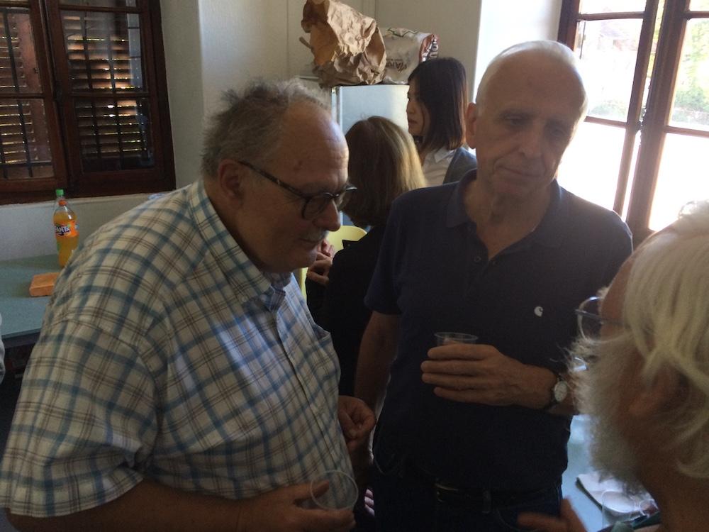 Jean-pierre Richaudeau, animateur en Juridique, et Christian Mercier, animateur en Economie