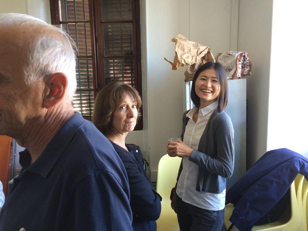 Sophie Chadeaux , animatrice de Chinois et Christine Darles , responsable des sorties culturelles de l'UTL