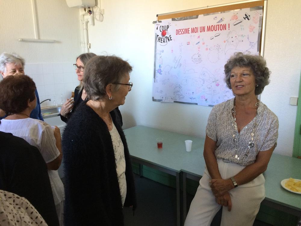 Bernadette, secrétaire du bureau UTL et Elisabeth Ruvilly, animatrice de l'atelier d'introduction à la psychanalyse