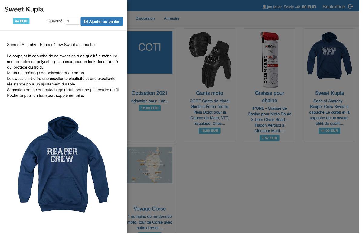 association boutique en ligne